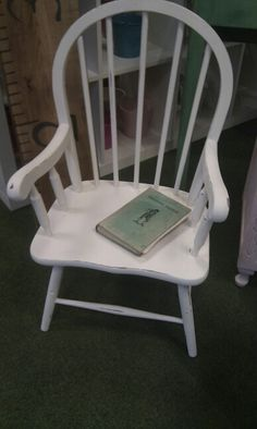 Annie Sloan Original child's chair painted by the little vintage cellar on Facebook