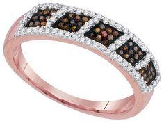 10k Rose Gold 0.33Ctw-Dia Micro-Pave Ring: Ring