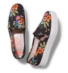 Triple Decker Slip-On Platform Shoe in Lively Floral // Rifle Paper Co + Keds