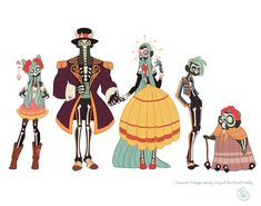 Portfolio_Character Design_Day if the Dead Family.jpg (Изображение JPEG, 1600 × 1257 пикселов)