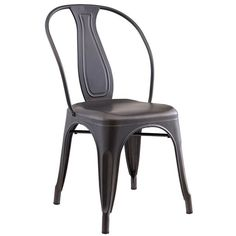 nspire Industrial Style Side Chair - Set of 4 for everyday dining or a special event, it delivers comfort and function. Industrial Dining Chairs, Solid Wood Dining Chairs, Metal Chairs, Upholstered Dining Chairs, Dining Chair Set, Side Chairs, Bistro Chairs, Dining Room, Industrial Style