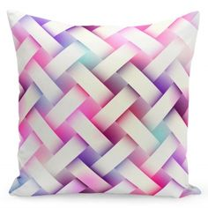 Ružová obliečka na vankúše s bielym motívom Throw Pillows, Bed, Toss Pillows, Cushions, Stream Bed, Decorative Pillows, Beds, Decor Pillows, Scatter Cushions