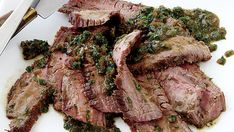 Steak Diane recipe--Classically made with filet mignon, this version of steak Diane uses less pricey flank steak. The beefier nature of the cut holds its own against a bold sauce featuring sherry, Cognac, Worcestershire sauce, and herbs. Steak Recipes, Slow Cooker Recipes, Cooking Recipes, What's Cooking, Steak Diane Recipe, Beef Flank Steak, Still Tasty, Daily Meals, Recipe Collection