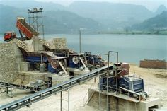 A cone crusher is generally used as a secondary crusher in a crushing circuit.  Pre-crushed product (usually 3in minus depending on the cone crusher model) is fed through the top of the cone crusher and flows over the mantle.