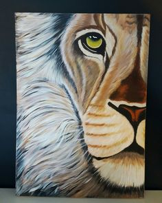 #lion #acrylics #canvas #painting