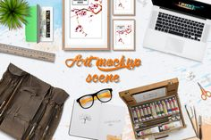 Artist scene Mock Up creator by Marcoo on @creativemarket