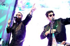 Chart toppers Capital Cities at our NY Ignition party earlier this year. Both are wearing the Carrera 6008.