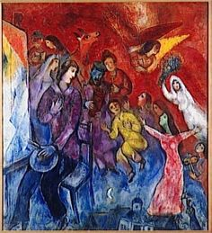 The Appearance of the artist's family - Marc Chagall 1947 (Family - Perspective.)
