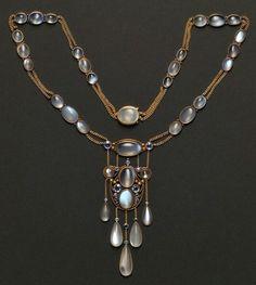 Milestones and sapphires art nouveau