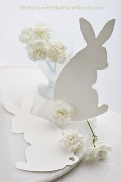 Go to missmustardseed to see ideas that go with these bunny templates. www.HolidaywithMatthewMead.com