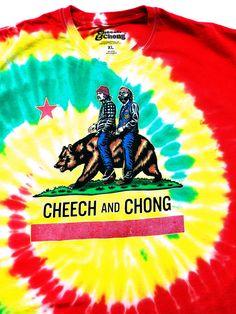 3d979b75d Cheech and Chong California Republic Logo Tie-Dye T-Shirt (L-2XL