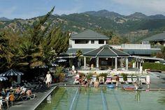 Even lekker ontspannen in een Hotspring in Calistoga Spa hot springs, Napa Valley California, VS