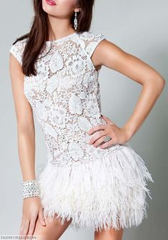 Would be an amazing wedding gown if the skirt was full-length