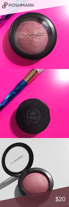 💯✨Mac Mineral blush •Gentle•w•free unicorn brush Mac blush Mineral gentle/ from pro kit never used been in makeup drawer ! Comes with free unicorn mermaid contour / blush brush ! Add to bundle for 🎀I'm a Posh Ambassador &Top trusted MUA &seller shop my closet W confidence 🛍receive makeup bag and extras 🛍🎉💕32k followers Read love notes xo LENA🎀 MAC Cosmetics Makeup Blush