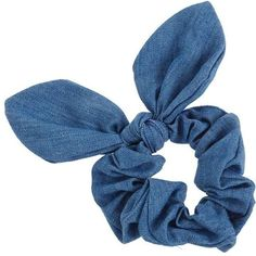 Dorothy Perkins Denim Scrunchie (79.950 IDR) ❤ liked on Polyvore featuring accessories, hair accessories, fillers, hair, blue, dorothy perkins, bow hair accessories, blue hair accessories and scrunchie hair accessories