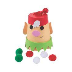 Christmas Elf Pom-Pom Game Craft Kit - OrientalTrading.com
