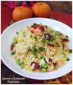 Cuisine Paradise | Singapore Food Blog - Recipes - Food Reviews - Travel: {Mobile Post} Salmon And Edamame Fried Rice
