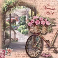 Bicicleta com floresmagem relacionada