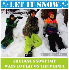 Let it Snow Activities For The Kid in Everyone on a Snow Day! What snowy thing can you do? Our best collection of fun activities to take the chill out of that snowstorm.