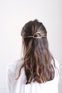 Half Moon Hair Pin A hairstyle, hairdo, or haircut refers to the styling of hair, usually on the hum Crystal Hair, Copper Hair, Hair Slide, Hairstyles For School, Fancy Hairstyles, Beautiful Hairstyles, Natural Hairstyles, College Hairstyles, Quiff Hairstyles