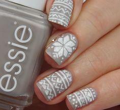 Norwegian Nails #inspired #onesie #jumper #nails #nailart #essie