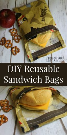 Use this simple DIY reusable sandwich bag sewing tutorial to use in school lunches. You can customize it using your favorite fabrics.