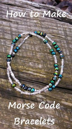 Make your own Morse Code Bracelets! This easy DIY beaded jewelry is a great craf. - Make your own Morse Code Bracelets! This easy DIY beaded jewelry is a great craft for kids. Diy Beaded Bracelets, Beaded Jewelry, Handmade Jewelry, Jewelry Bracelets, Diy Bracelets For Him, Jewlery, Jewelry Drawer, Ankle Bracelets, Pearl Jewelry