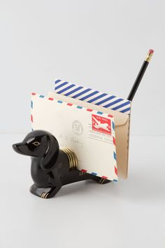Dachshund Letter Holder | @Anthropologie .