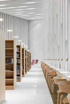 FRAME | Kirkkonummi Library Fyyri Urban Concept, Old Libraries, City Library, Library Design, Timber Walls, Community Space, Concrete Structure, Ground Floor Plan, Post And Beam