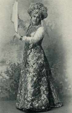 Countess Ekaterina Nikolaevna Kleinmichel in Russian fancy dress, 1900s