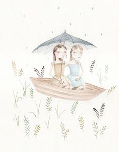 A Rainy Boat Ride by Julianna Swaney