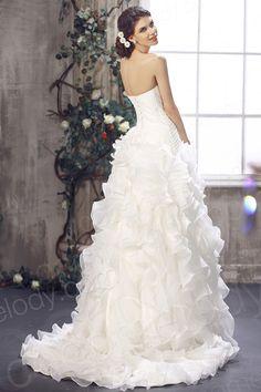 Cute A Line Sweetheart Sweep Brush Train Cascading Ruffles Organza Wedding Dress  CWLT1301A $429.00 wedding dress, wedding dress, wedding dress, wedding dress, wedding dress