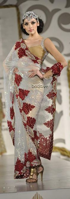 Image detail for -Neeta Lulla Designer Saree Collection 2012 Pakistani Bridal, Indian Bridal, Ethnic Fashion, Asian Fashion, Saree Collection, Bridal Collection, Indian Dresses, Indian Outfits, Beautiful Saree