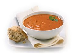 The #Tomato #Bisque is filled with ripe red tomatoes and #onions simmered with rich cream and delicately seasoned with #garlic and #pepper.