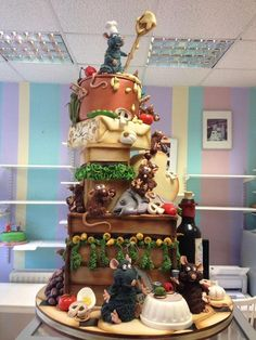 My Fave 3D Sculpted Ratatouille Cake Ever - by Richardscakes on CakesDecor - http://cakesdecor.com/cakes/96749
