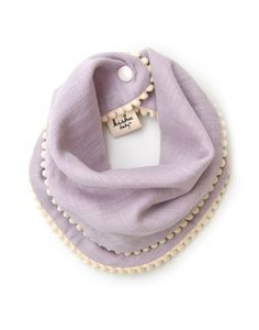 I wonder if I could diy this? So sweet! Kishu baby girl pom pom bib – lavender