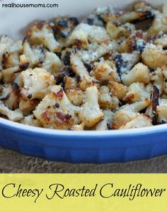 Cheesy Roasted Cauliflower is delicious and perfect for a low carb and healthy side dish.
