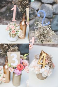 Geo-Floral Inspired Wedding Styled Shoot | Table Numbers