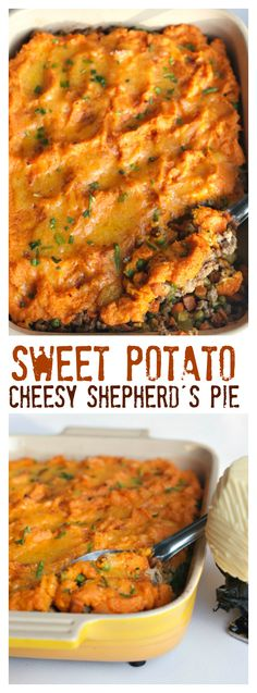 Sweet Potato Shepherd's Pie with Cheese Recipe for St. Patrick's Day