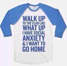 social anxiety meme t shirt funny