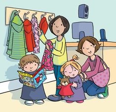 Who is hanging up a coat? Who is reading a story? King Picture, Picture Story, School Pictures, Cute Pictures, Illustration Agency, Picture Writing Prompts, Gross Motor Activities, Human Drawing, Cartoon Pics