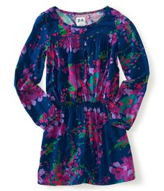 Kids' Long Sleeve Floral Drop-Waist Woven Dress - PS From Aeropostale