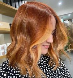 Ginger Hair Color, Strawberry Blonde Hair Color, Red Blonde Hair, Hair Color Caramel, Caramel Lob, Ginger Hair Dyed, Dyed Natural Hair, Dyed Hair, Hair Color Streaks