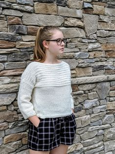 Ribbed Pullover Sweater Crochet PATTERN Cropped Sweater | Etsy