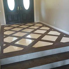 Tile mix for entry/bathroom?