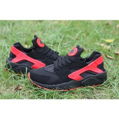 buy popular 1fd16 ada4e Nike Air Huarache Run Homme Chaussures Noir Rouge - €234.00   Chaussures Nike  Air Max