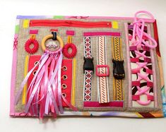 Handmade Sensory Fidget Blankets Toddler Learning Activities, Dementia Activities, Montessori Activities, Etsy Handmade, Handmade Gifts, Fidget Blankets, Long Car Rides, Linen Bag, Fidget Toys