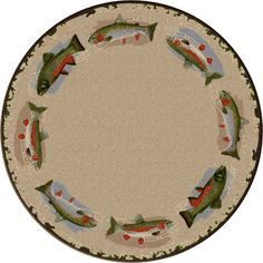 Round Pebble Creek Rug.  Great for under a round dining table