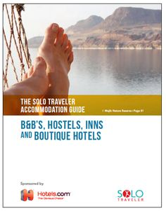 Solo Travel Accommodation - a FREE Guide with listings in 51 countries.