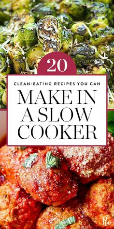 Here are 20 clean-eating recipes you can make in your slow-cooker. Make all these comforting recipes ASAP. #slowcooker #crockpotrecipes #slowcookerrecipes #cleaneating #eatclean #healthyrecipes #healthyslowcooker
